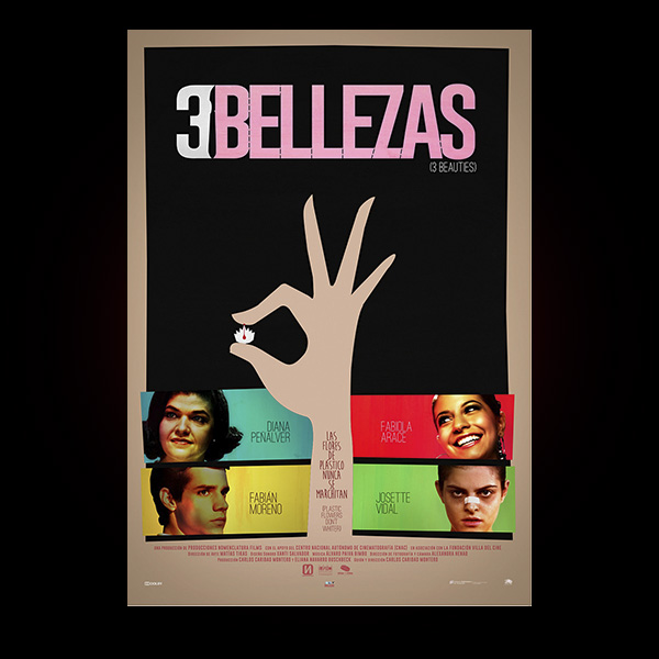 3 BELLEZAS (CARLOS CARIDAD MONTERO, 2015). CARTEL ALTERNATIVO.